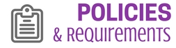 polices & requirements updated